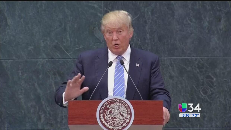 Cuestionan pago de helicóptero que trasladó a Trump durante su visita a...