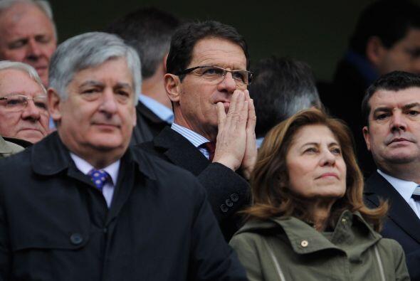 El partido contó con la presencia del seleccionador italiano de l...