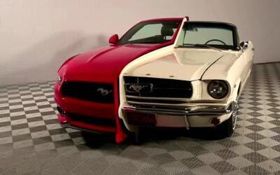 Mustang de dos caras celebra medio siglo de avance automotriz