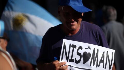 Protestan en Buenos Aires en el día que se cumplen dos años de la muerte...