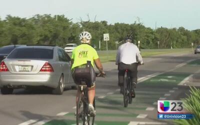 Estrenan nuevas pistas para ciclistas en Miami-Dade