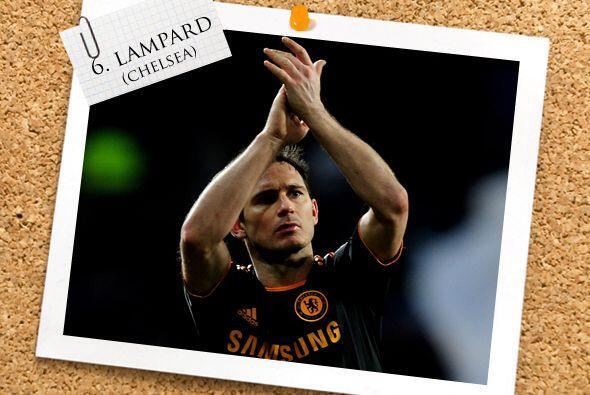 Frank Lampard fue el líder del Chelsea moviendo los hilos rumbo a...