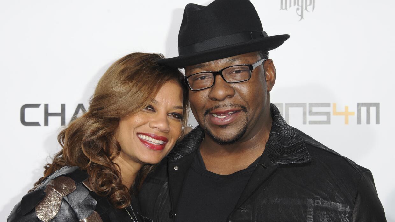 Bobby Brown y su esposa