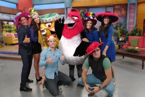 ¡Y había que tomarse la foto con tan coloridos y emplumados amigos!