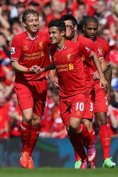 El brasileño Philippe Coutinho hizo el único gol con el que los 'Reds' v...