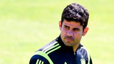 Diego Costa fue abucheado por el público brasileño en el debut de España.