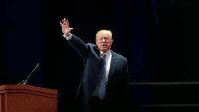 Donald Trump el viernes en Orlando, Florida.