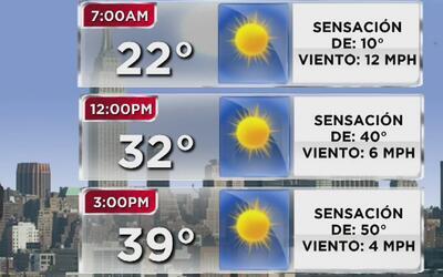Jueves soleado, frío y con bajas probabilidades de lluvia en Nueva York