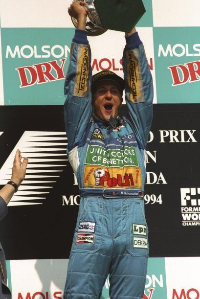 En 1991 se ganó un asiento de manera definitiva con Benetton, esc...