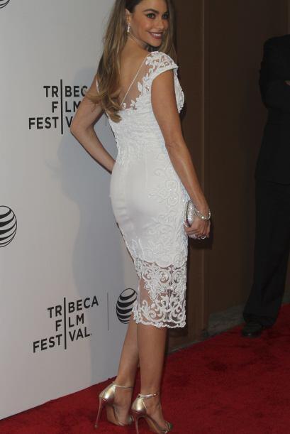 Por delante y por detrás, la actriz se veía hermosa.