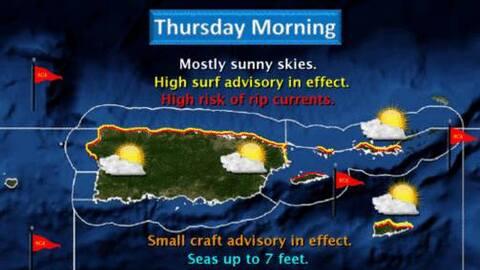 Advertencia de fuertes resacas y corrientes marinas para Puerto Rico