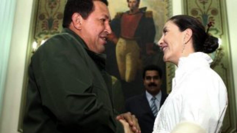 El presidente venezolano Hugo Chávez hizo un llamado a la guerrilla colo...