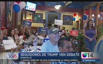 Republicanos se reunieron en Danville para apoyar a Trump en el debate