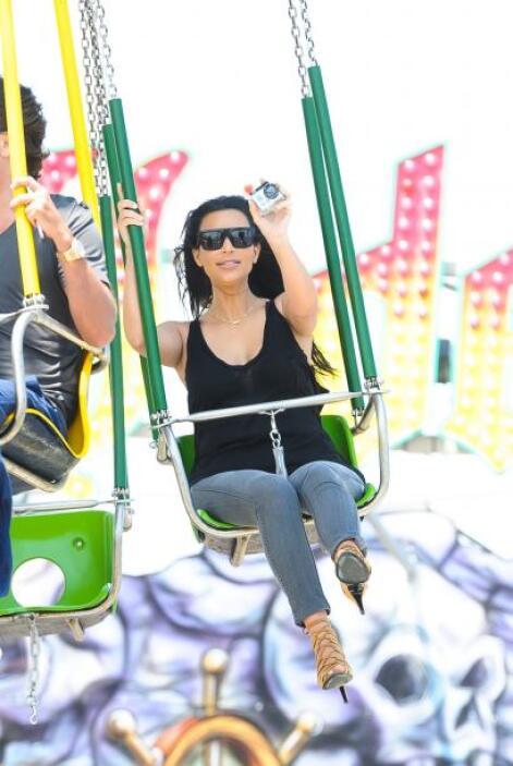 Kim se veía muy divertida.Mira aquí los videos más chismosos.