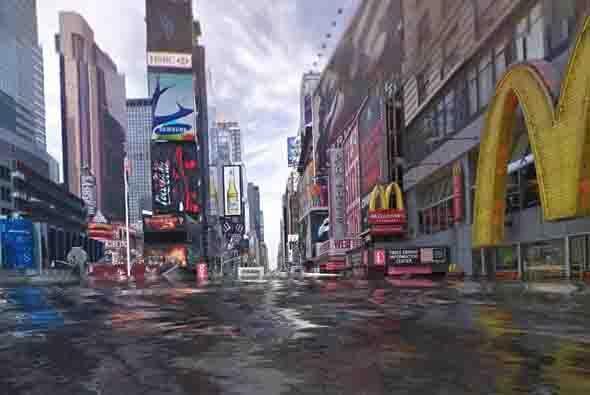 La famosa calle de Times Square en Nueva York y una muestra de si esto l...