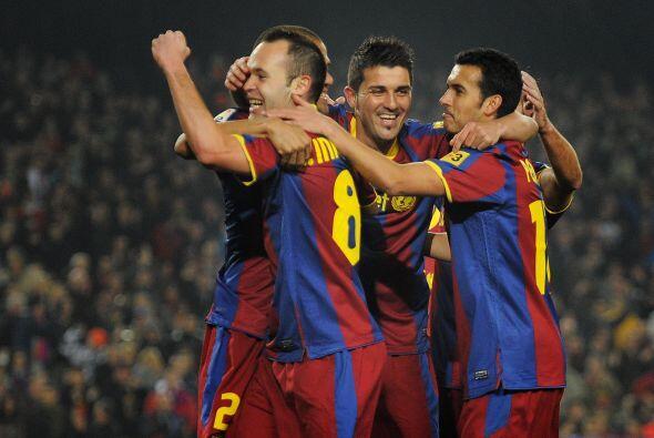 Ese tanto causó la euforia en el Camp Nou.