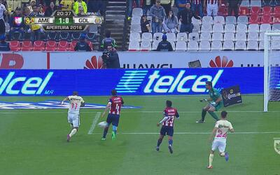 América se puso adelante en el marcador con gol de Michael Arroyo