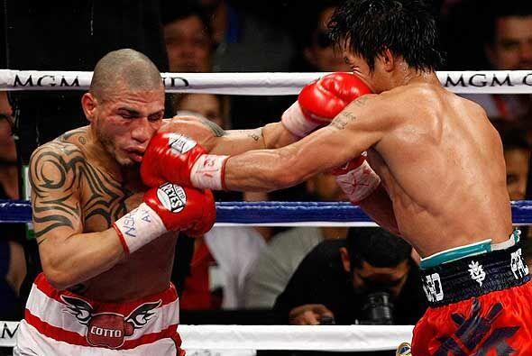 Manny Pacquiao enfrentó al boricua Miguel Cotto y lo derrotó por nocaun...