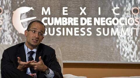 Marcelo Odebrecht, presidente de la firma brasileña, en una confe...