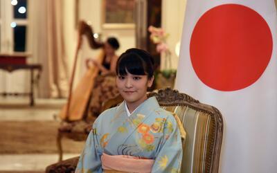 La princesa Mako durante una visita oficial a Paraguay.