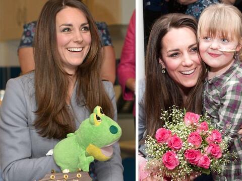 La duquesa de Cambridge visitó el Star House Children's Hospice e...