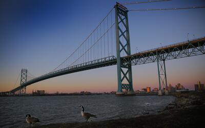 El futuro puente Gordie Howe entre Windsor y Detroit será un refuerzo al...