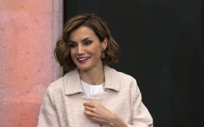 De España Reina Letizia llega al Museo Felguérez Manuel en Zacatecas.