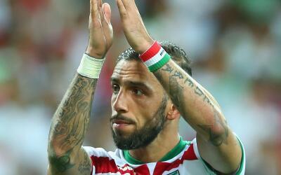 Ashkan Dejagah, durante un partido con la selección de Irán