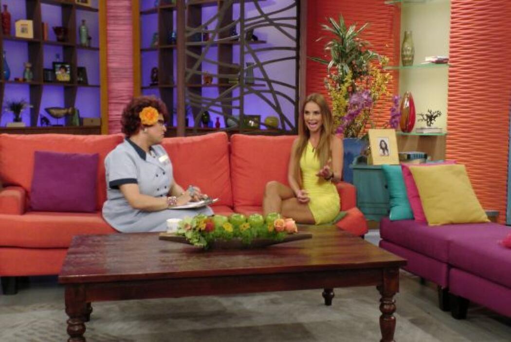 Ximena dijo estar contenta con todos sus compañeros de Despierta América.