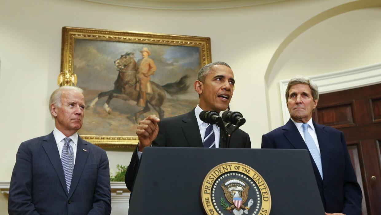Biden, Obama y Kerry