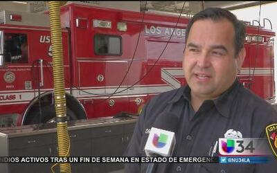 Los Angeles envía bomberos al norte de CA