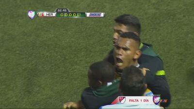 Cristian Lagos hace el segundo de Herediano contra Olimpia