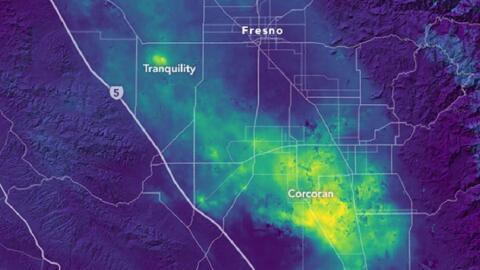 Mapa de la NASA que ilustra de amarillo el dramático hundimiento...