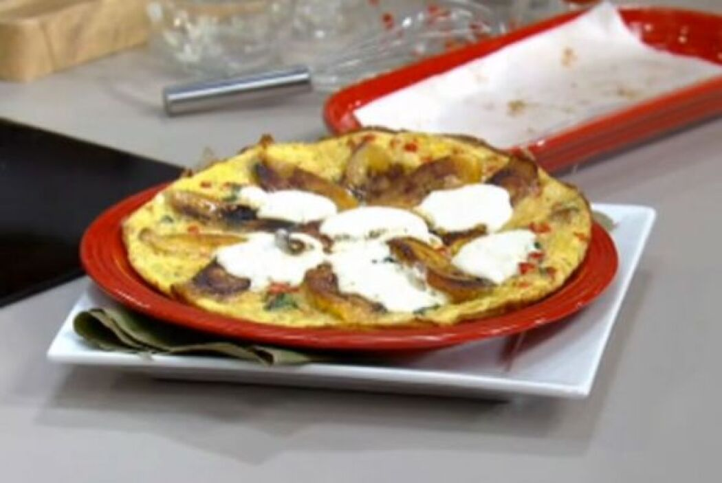 8. Torta de plátanos y pimientos: en una sartén antiadherente y que agua...