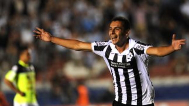 Leandro Reymundez celebra el gol el triunfo de Wanderes ante Zamora.