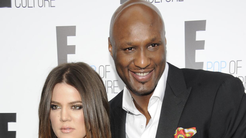 Lamar Odom y Khloe Kardashian.