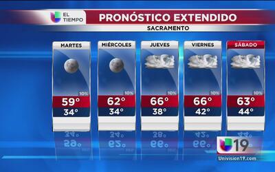 Sacramento tendrá una semana soleada