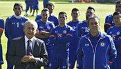 Tomás Boy y los jugadores d Cruz Azul en la presentación del técnico.