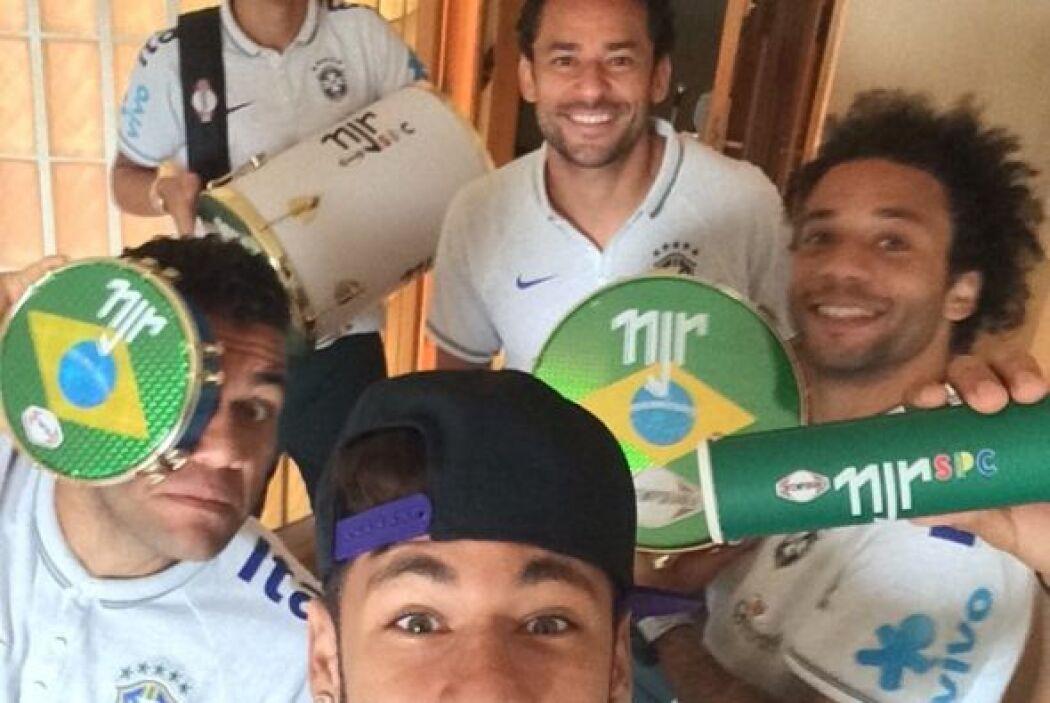 Neymar, Fred, Marcelo, Thiago Silva