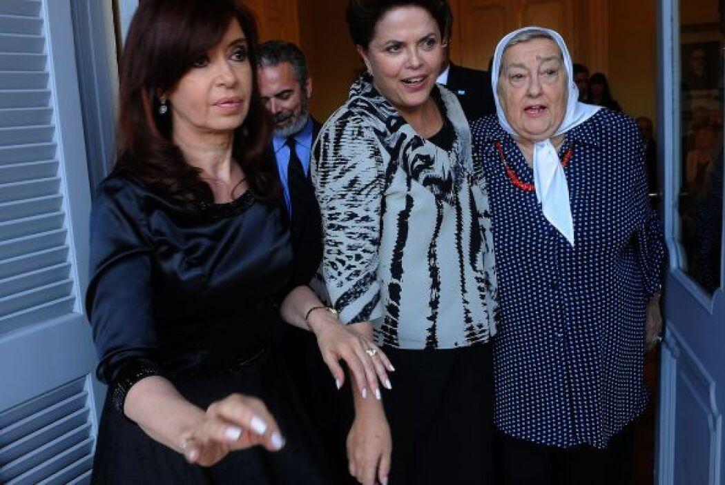 La líder de Madres de Plaza de Mayo destacó que Rousseff y Fernández 'so...