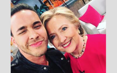 Prince Royce y Hillary Clinton
