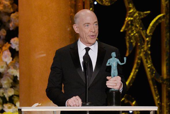 J.K. Simmons aceptando su premio a Mejor actor de reparto en cine.