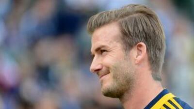 'Becks' entrena con los 'Gunners' para mantenerse en forma física como e...