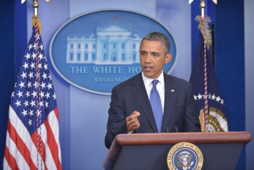 El presidente Barack Obama y líderes del Congreso se reunieron a puerta...