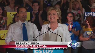 """""""Trabajaré duro por ustedes"""", Clinton"""