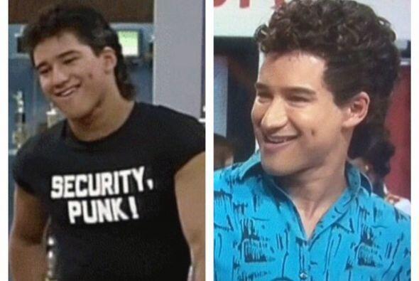 También Mario Lopez. ¡Se ve igualito!