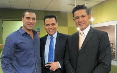 Fernando Colunga y Eduardo Yañez de visita en Chicago