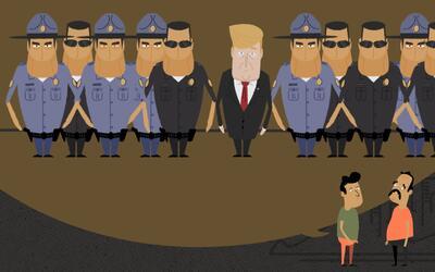 ¿Cómo sería la fuerza de deportación de Trump?