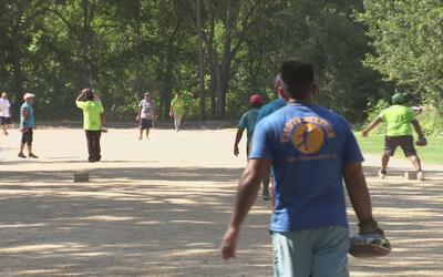 Competencia de pelota mixteca en Dallas