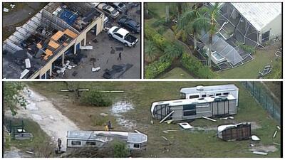 Fuerte tormenta deja destrozos en en sur de Florida